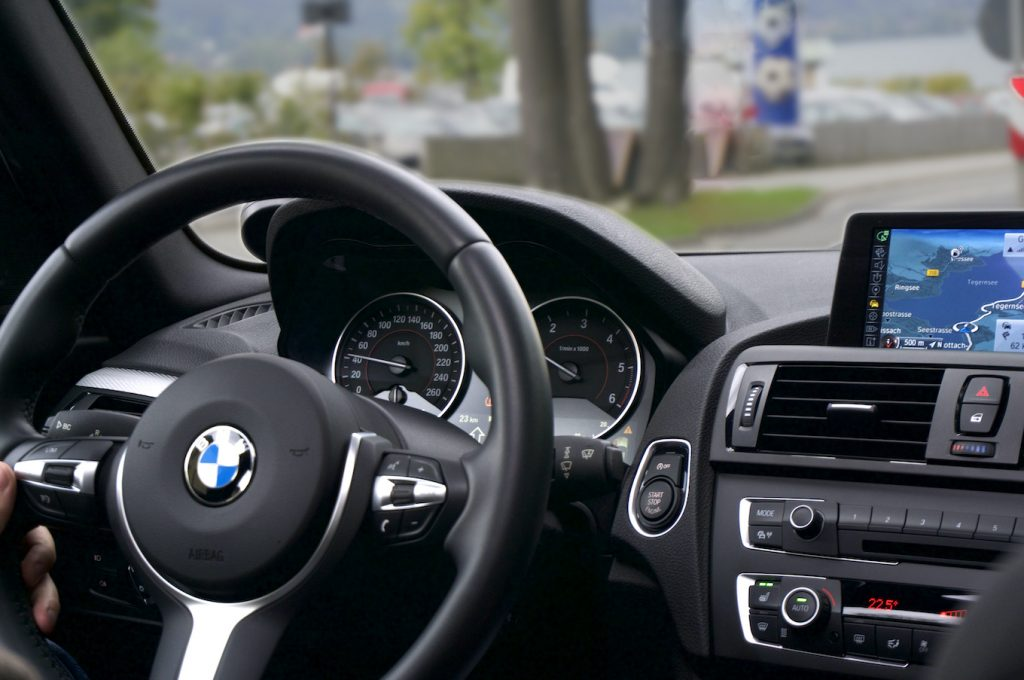BMW Steering Wheel and Dash